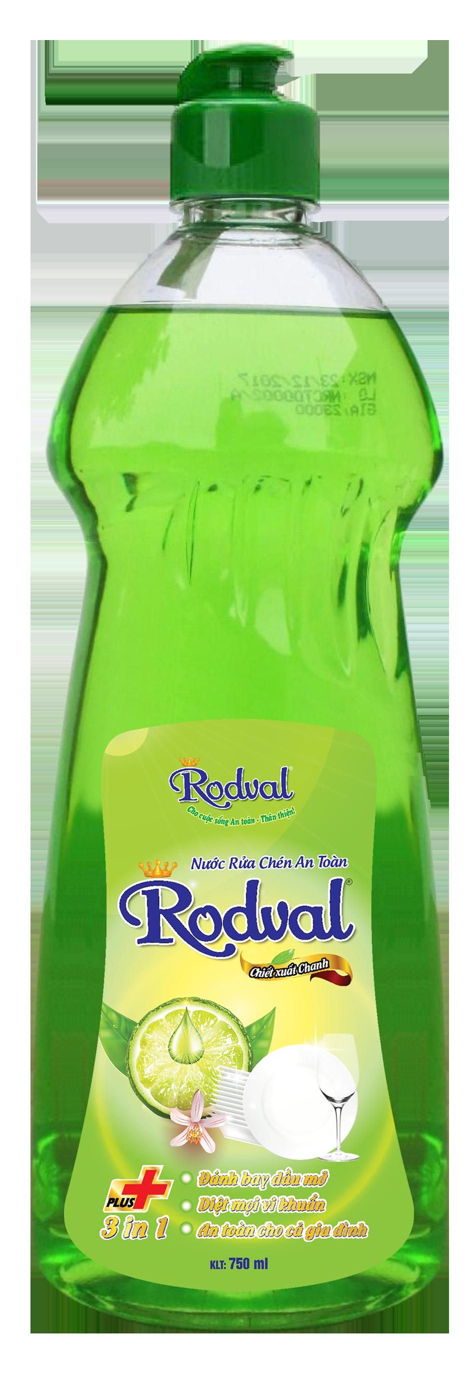 Nước rửa chén Rodval hương chanh 750ml
