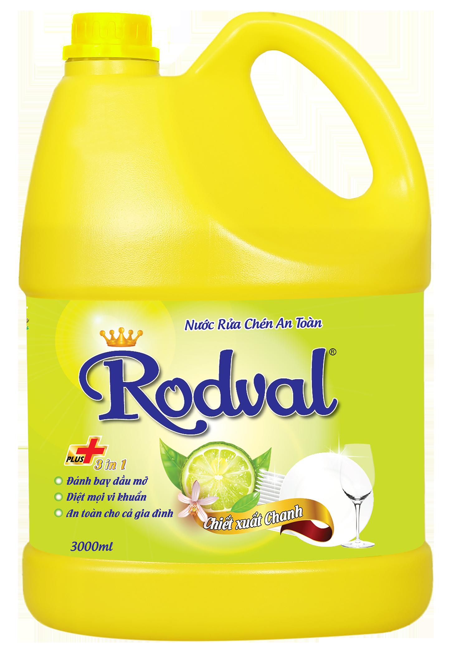 Nước rửa chén Rodval hương chanh 3L