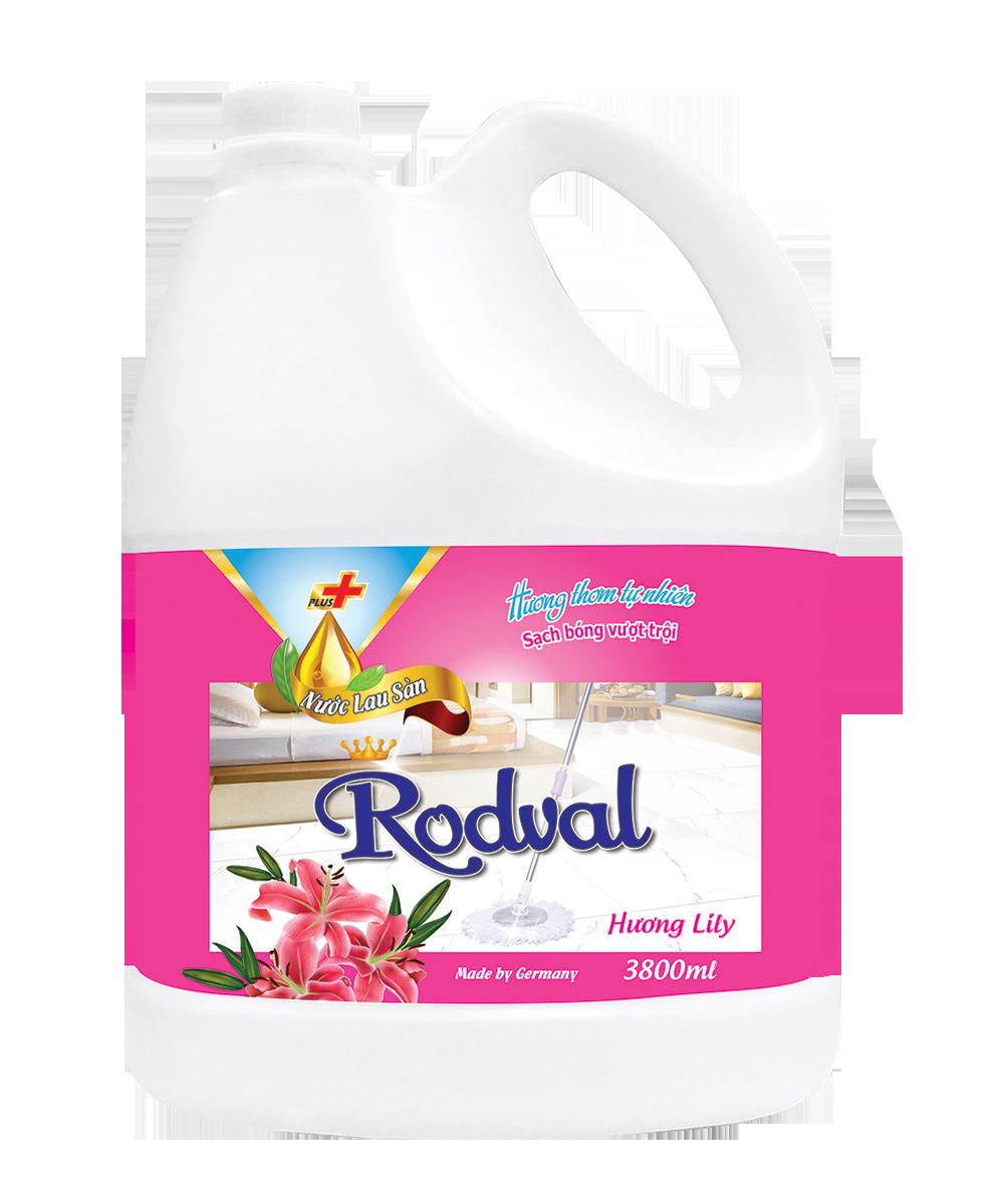 Nước lau sàn Rodval hương Lily 3.8L